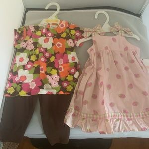 CARTER's & GYMBOREE GIRLS outfit